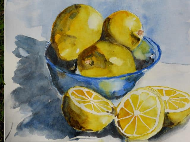 My Watercolour Painting -- When Life Gives You Lemons