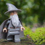 Lego Gandalf looking to the right