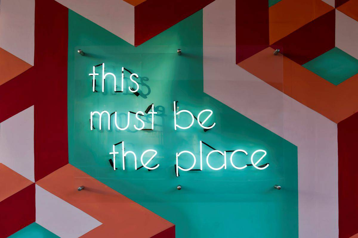 """This Must Be The Place"" Neon Sign"